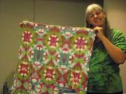 Cheryl with Shibori Dyeing
